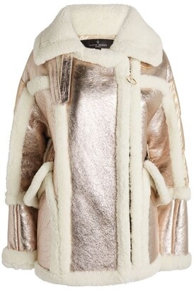Nicole Benisti Montaigne Contrast Shearling Jacket