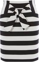 Karen Millen Bow-front Skirt - Black & White