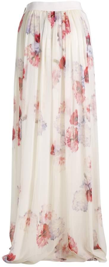 Giambattista Valli Long Print Skirt