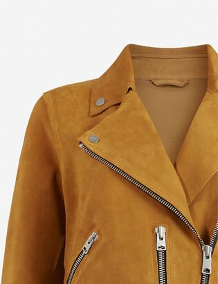AllSaints Fern leather biker jacket