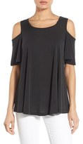 Bobeau Petite Women's Cold Shoulder Flutter Sleeve Top