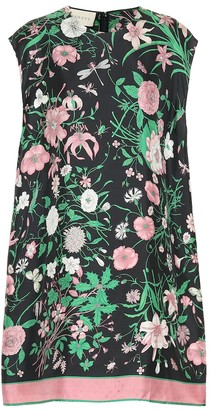 Gucci Floral silk tunic top