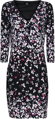 Wallis Black Floral Print Shift Dress