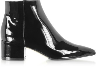 Sergio Rossi Soft Patent Leather Black Boots