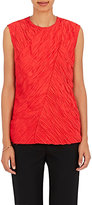 Nina Ricci Women's Bias-Cut Plissé Top-RED