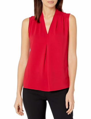 Nine West Women's Sleeveless V Neck Blouse