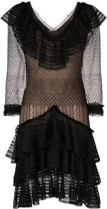 Alexander McQueen sheer ruffle dress