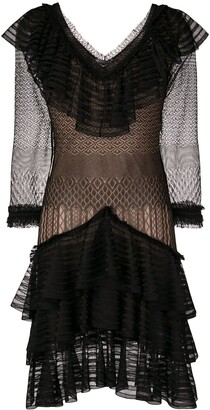 Alexander McQueen Sheer Ruffle Dress