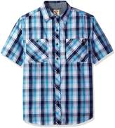 Dickies Men's Short Sleeve Wrinkle Resistant Double Pocket Plaid Shirt