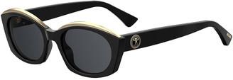 Moschino Oval Acetate Sunglasses