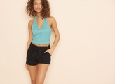 Garage Halter Crop Crochet Cami