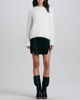 3.1 Phillip Lim Leather Cross-Front Biker Skirt