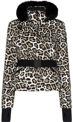 Goldbergh Leopard-Print Faux Fur-Trim Ski Jacket