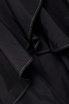Ganni Ruffled Shell Midi Wrap Skirt