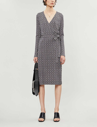 Diane von Furstenberg Karis printed silk-jersey wrap dress