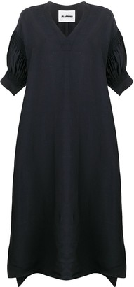 Jil Sander asymmetric V-neck dress