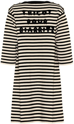 Gucci Striped wool dress