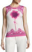 Versace Silk-Blend Floral Tank