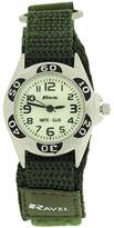 Ravel Boys Nite-Glo Quartz Lumnous Dial & Army Green Velcro Strap Watch R1704.21