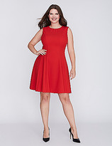 Gabby Skye Whipstitch Fit & Flare Dress