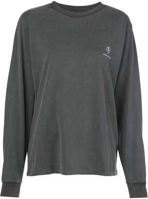 Anine Bing Willow logo embroidered sweatshirt