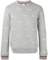 Moncler Gamme Bleu trumpet print sweatshirt