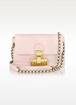 The Single Light Pink Leather Shoulder Bag