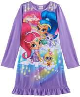 Girls 4-8 Shimmer & Shine Ruffle Hem Nightgown
