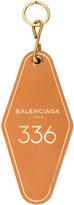 Balenciaga Brown Hotel Key Tag keyring