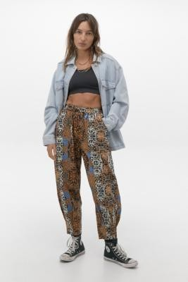 Urban Outfitters Printed Beach Joggers - Grey S at