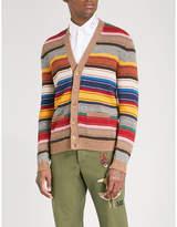 Gucci Multicoloured striped wool cardigan