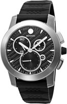 Movado Men's 606082 Vizio Black Rubber and Strap Anthracite Dial Watch