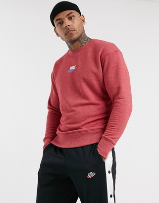 Nike crew neck sweat in red