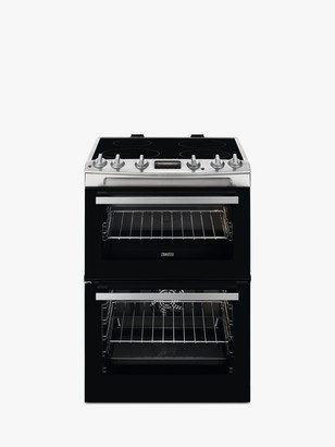 Zanussi ZCI66250XA Double Electric Cooker, A Energy Rating, Black/Stainless Steel