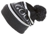 Canada Goose Men's Logo Knit Beanie - Black