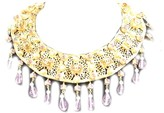 Chanel Gold Lavender Gripoix Necklace