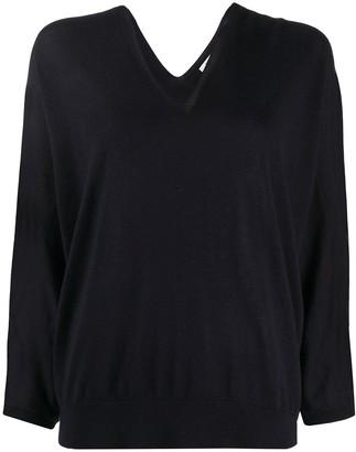 Peserico slouchy V-neck jumper