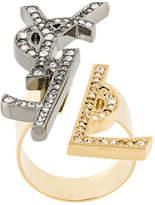 Saint Laurent monogram deconstructed ring