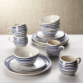 Crate & Barrel Lina Blue Stripe 16-Piece Place Setting