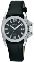 Pulsar PXT707 32mm Stainless Steel Case Calfskin Mineral Women's Watch
