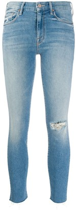 Mother Looker frayed-edge jeans