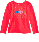 Epic Threads Hero Kids by Mix and Match Super Cool Glitter-Graphic Long-Sleeve T-Shirt, Little Girls (4-6X), Created for Macy's