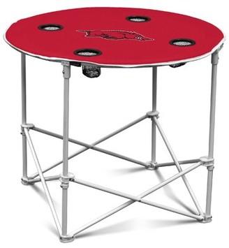 """NCAA 30"""" Circular Folding Table Logo Brands NCAA Team: Arkansas"""