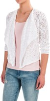 Jeanne Pierre Draped Sweater Shrug - Cotton, Long Sleeve (For Women)