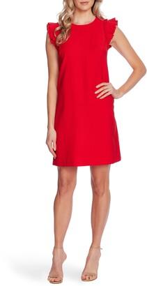 CeCe Double Flutter Sleeve Shift Dress