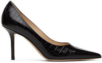 Jimmy Choo Black Croc Love 85 Heels