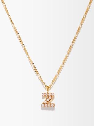 Otiumberg Alphabet Pearl & 14kt Gold-vermeil N-z Necklace - Pearl