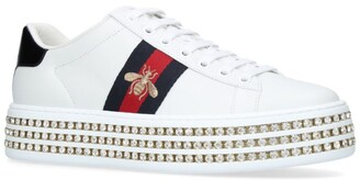 Gucci Embellished Platform New Ace Sneakers