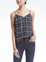 Banana Republic Plaid Essential Cami