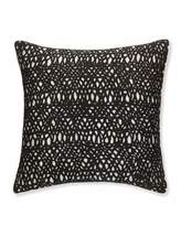 "Sferra Metallic Pillow with Black Netting, 20""Sq."